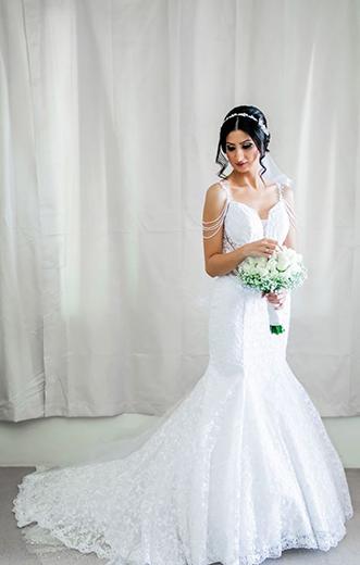 A style beaded wedding dresses