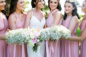 bride and convertible bridesmaid dresses