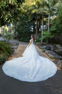 long train bridal dress